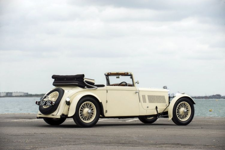 Aston Martin MkII Drophead Coupe Enrico Bertelli cars classic 1935 wallpaper
