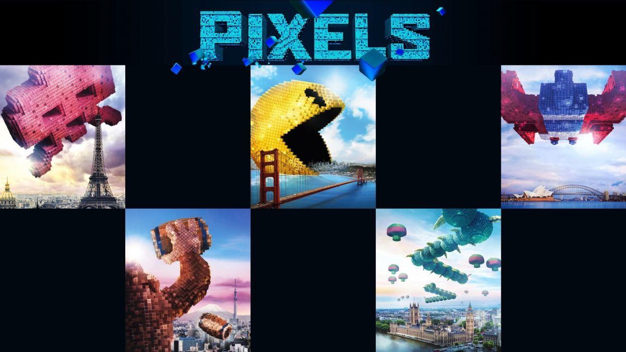 PIXELS action comedy sci-fi alien game poster wallpaper