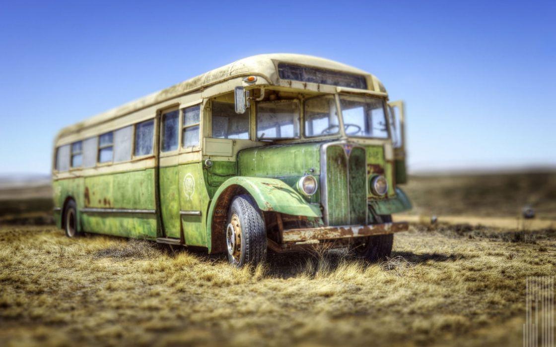 autobus viejo wallpaper