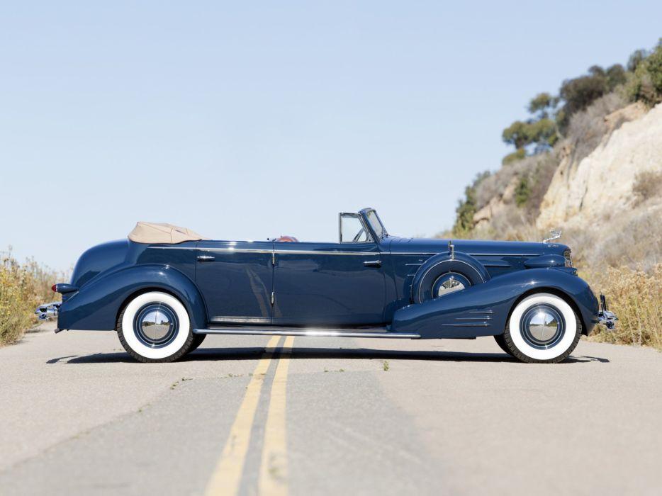 1934 Cadillac V16 452-D Convertible Sedan Fleetwood cars classic wallpaper