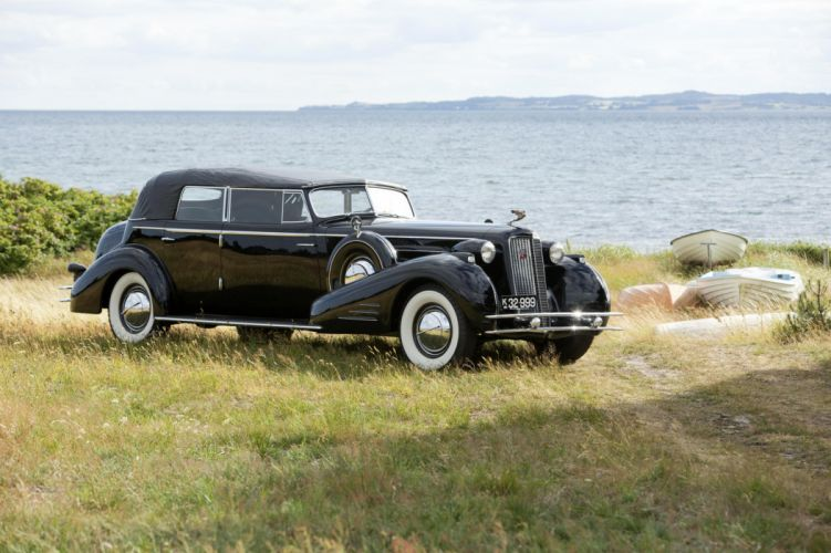 1934 Cadillac V16 452-D Convertible Sedan Fleetwood cars classic wallpaper