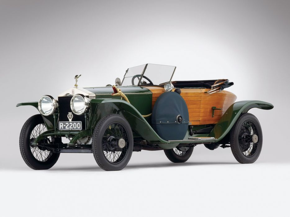 Rolls-Royce Silver Ghost Boattail Skiff Schebera cars classic 1914 wallpaper