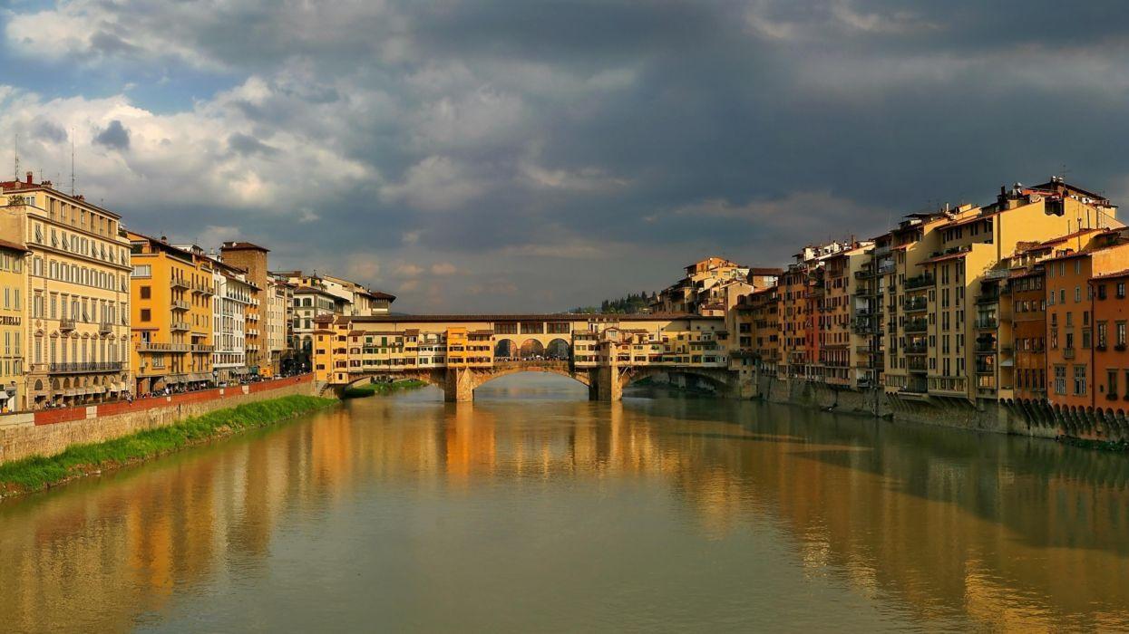 puente viejo florencia italia europa wallpaper