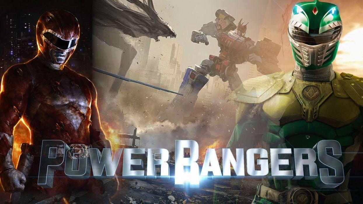 POWER RANGERS 2017 action fighting superhero hero heroes 2017pp fantasy sci-fi adventure poster wallpaper