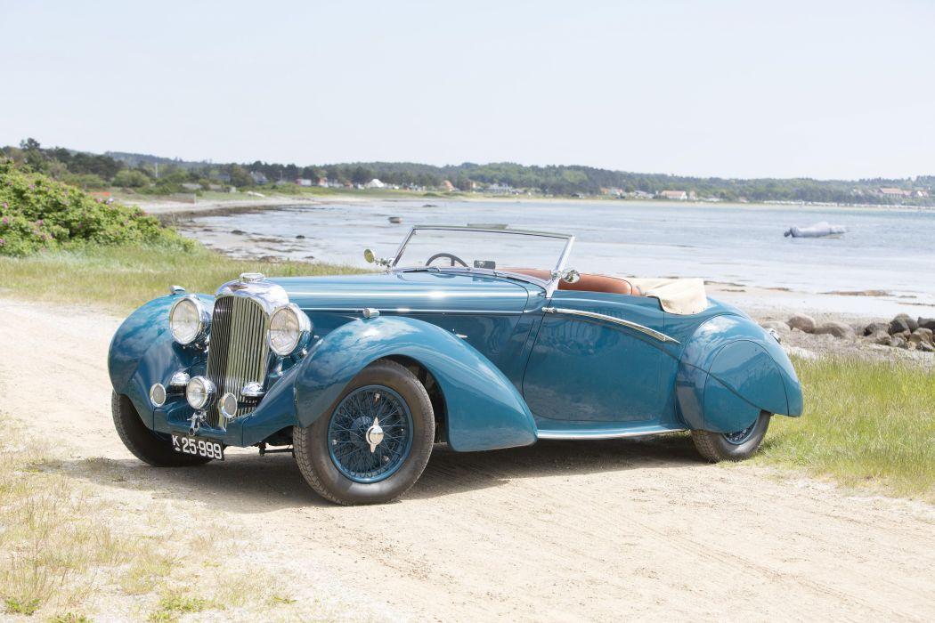 Lagonda LG6 Rapide Drophead Coupe cars classic 1938 wallpaper