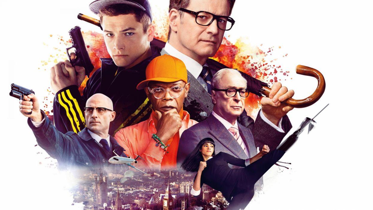 KINGSMAN-SECRET-SERVICE sci-fi action adventure comedy crime kingsman secret service poster wallpaper