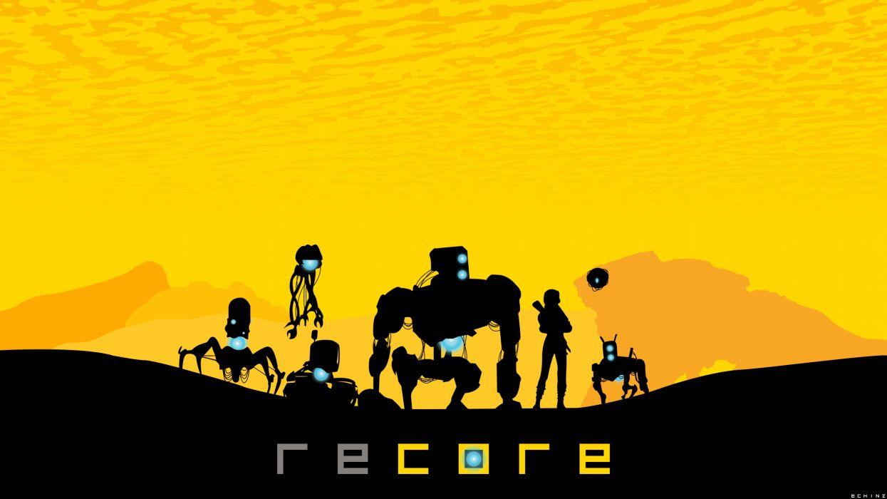 RECORE action adventure sci-fi 1recore futuristic fighting mmo rpg robot poster wallpaper