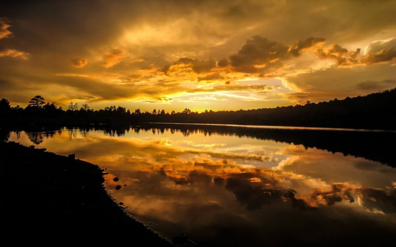kaibab lake sunset wallpaper