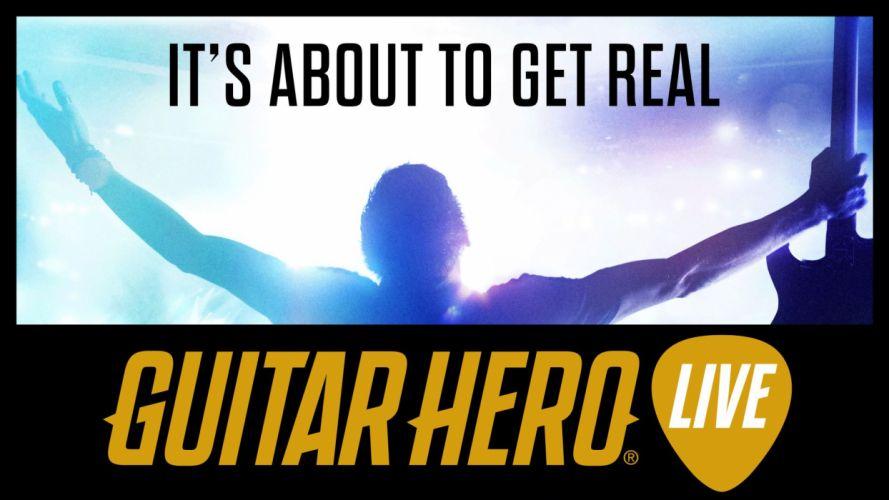 GUITAR HERO LIVE music simulator rhythm hard rock heavy metal concert 1ghl poster wallpaper