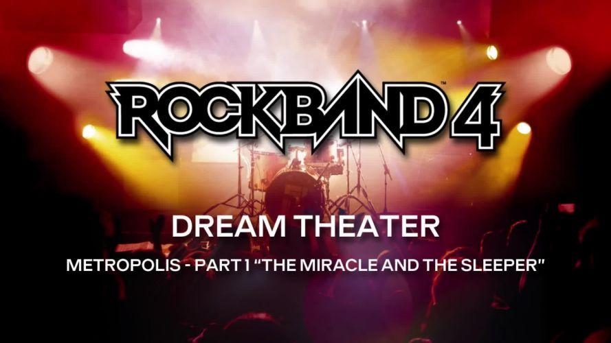 ROCK BAND 4 music simulator rhythm hard heavy metal 1rb4 concert poster dream theater wallpaper
