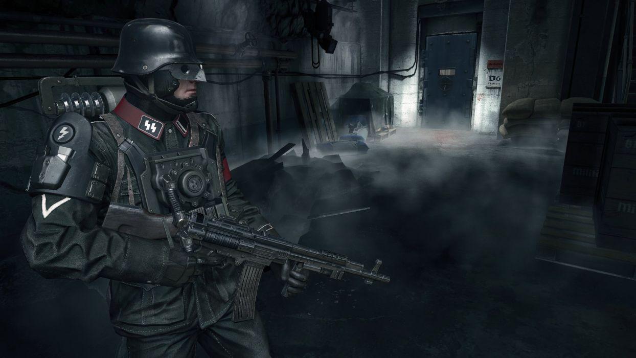 WOLFENSTEIN OLD BLOOD action adventure fps shooter fighting nazi war 1wob wallpaper