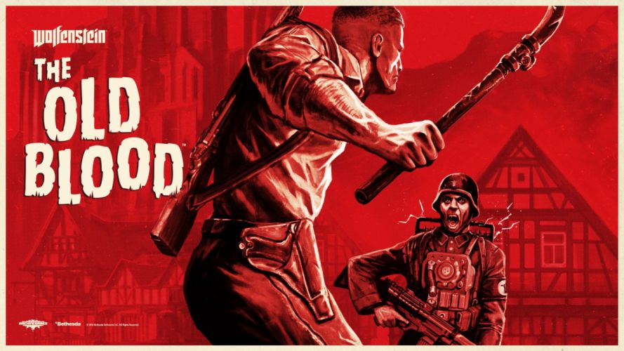 WOLFENSTEIN OLD BLOOD action adventure fps shooter fighting nazi war 1wob poster wallpaper