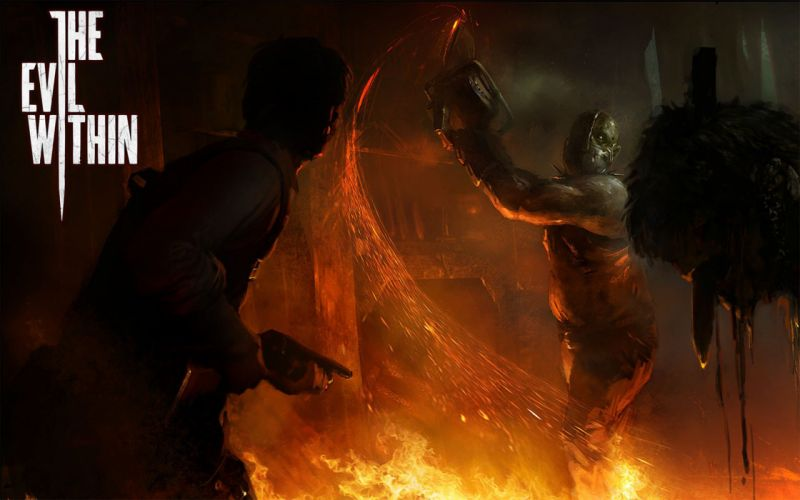 EVIL WITHIN survival horror action fighting 1ewith dark zombie monster blood poster wallpaper