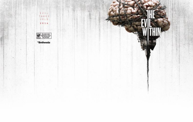 EVIL WITHIN survival horror action fighting 1ewith dark zombie monster blood poster brain wallpaper