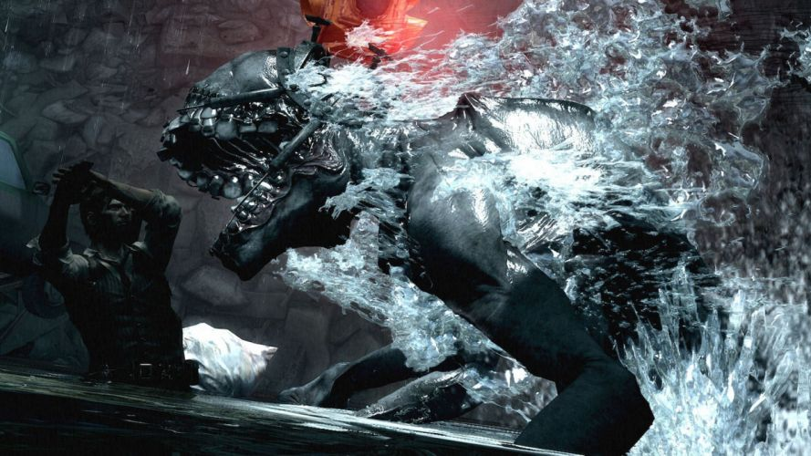 EVIL WITHIN survival horror action fighting 1ewith dark zombie monster brain psychedelic wallpaper