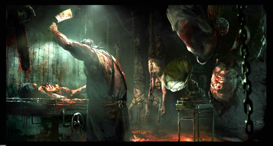 EVIL WITHIN survival horror action fighting 1ewith dark zombie monster blood wallpaper
