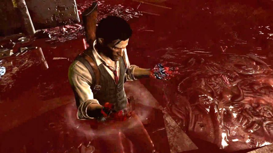 EVIL WITHIN survival horror action fighting 1ewith dark blood wallpaper