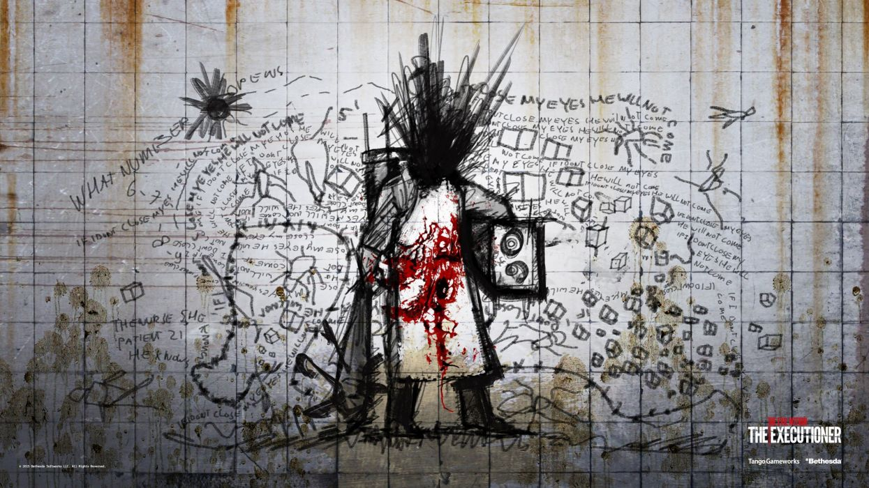 EVIL WITHIN survival horror action fighting 1ewith dark zombie monster blood artwork graffiti wallpaper