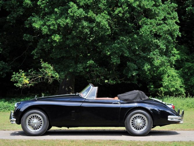 1958 Jaguar XK150 Drophead Coupe cars classic wallpaper