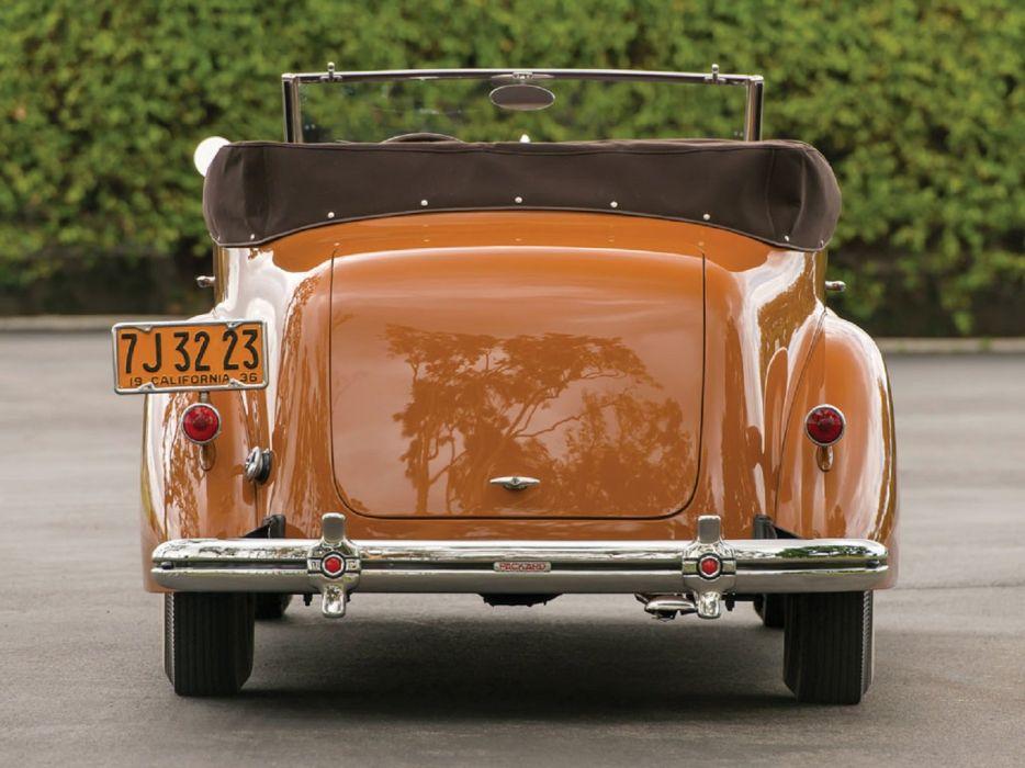 1936 Packard One Twenty Convertible Victoria LeBaron cars classic wallpaper