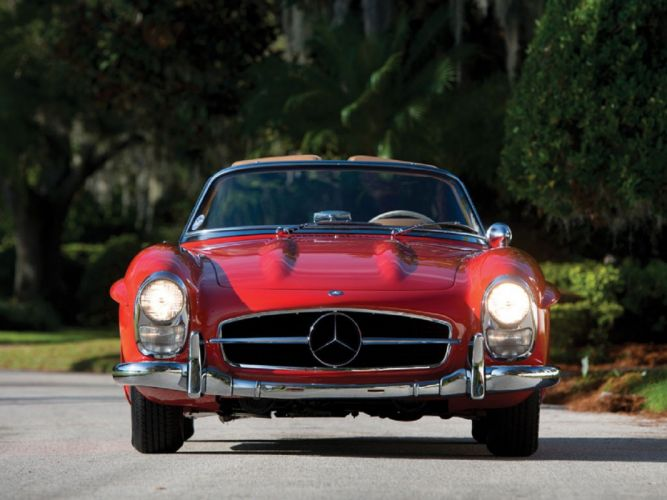 1960 Mercedes-Benz 300-SL Roadster cars classic wallpaper