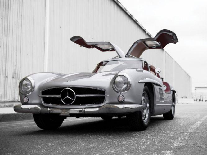 1955 Mercedes-Benz 300-SL Alloy Gullwing cars classic wallpaper