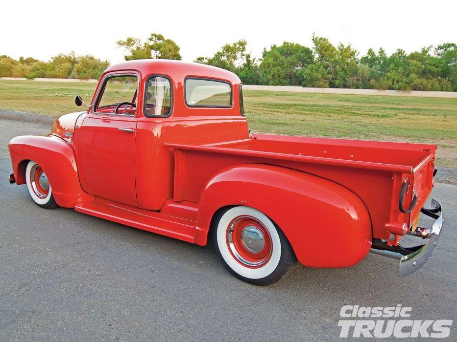 1949 Chevrolet 3100 Pickup Hotrod Hot Rod Custom Old School USA 1600x1200-02 wallpaper