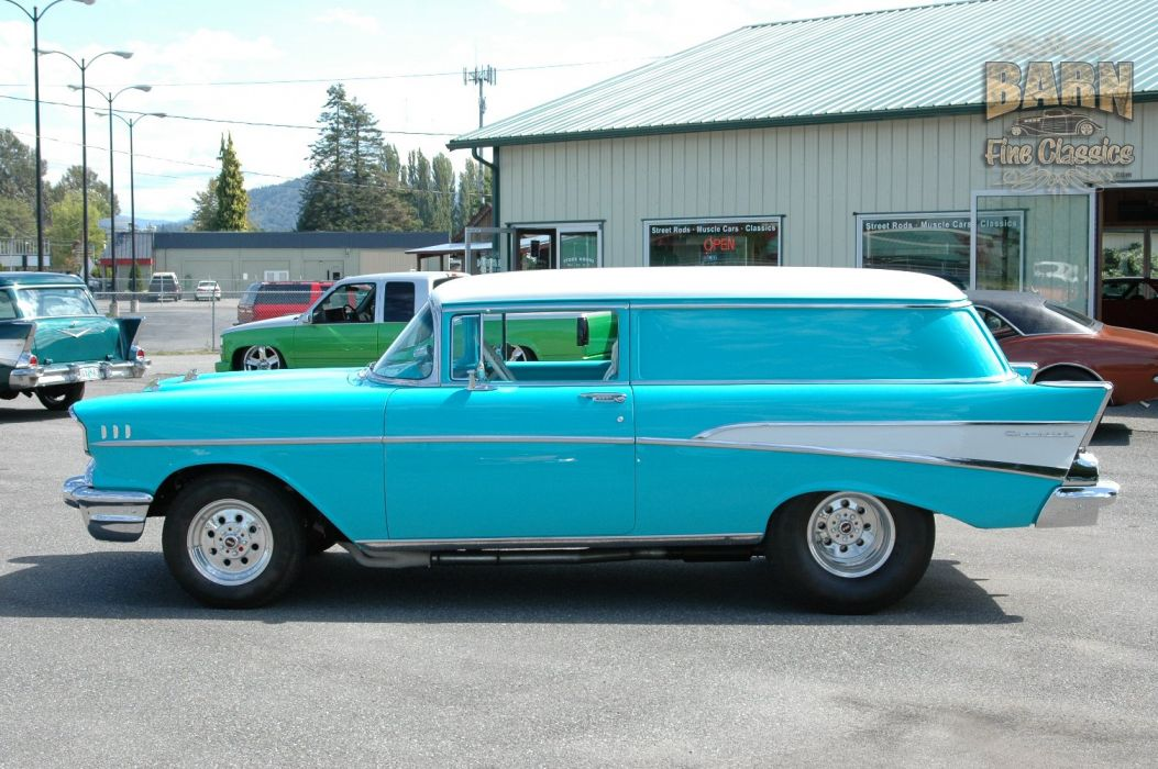 1957 Chevrolet Bel Air 210 Sedan Delivery Pro Street Drag Rodder Hot