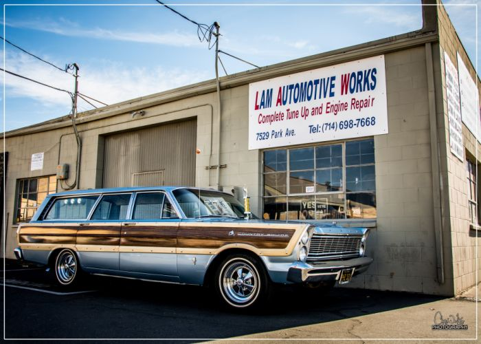 1965 Ford Country Squire Wagon Hotrod Custom Old School USA -01 wallpaper