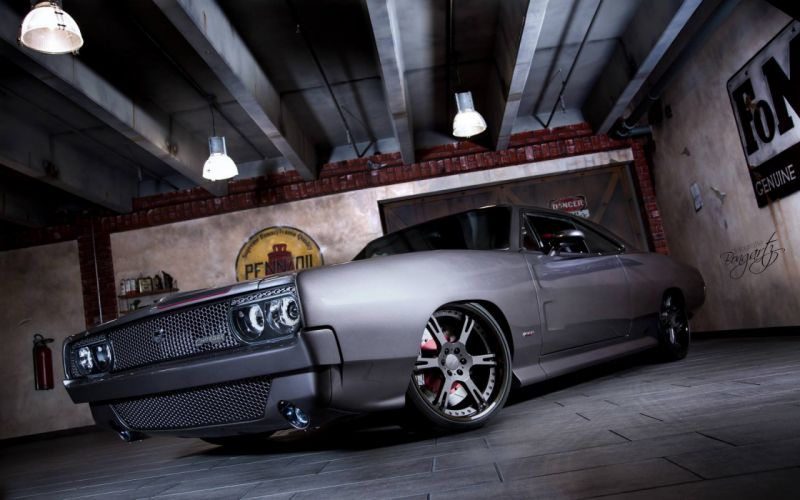 1968 Dodge Charger RT Muscle Super Street Pro Touring USA -01 wallpaper