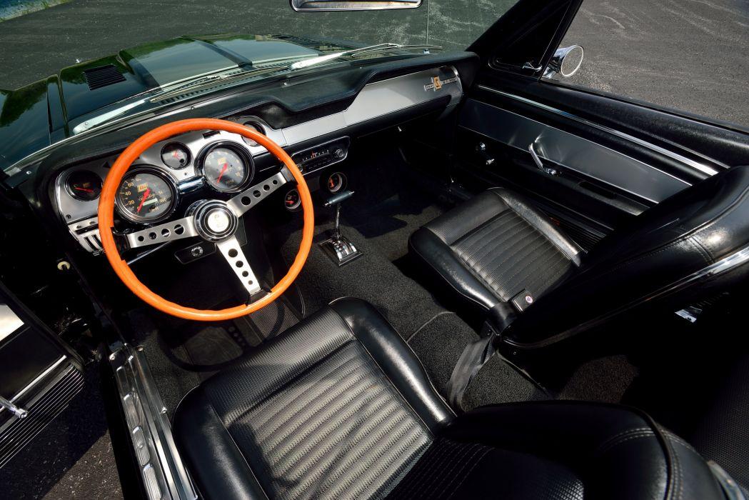 1968 Ford Mustang Convertible Cobra Jet 428 Street Machine Custom USA -04 wallpaper