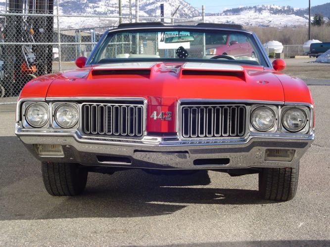 1970 Oldsmobile 442 W-30 Convertible Muscle Classic Old Original USA -05 wallpaper