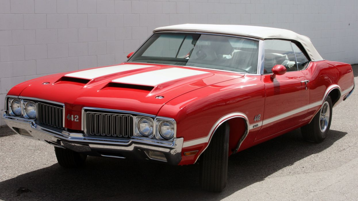 1970 Oldsmobile 442 W-30 Convertible Muscle Classic Old Original USA -01 wallpaper