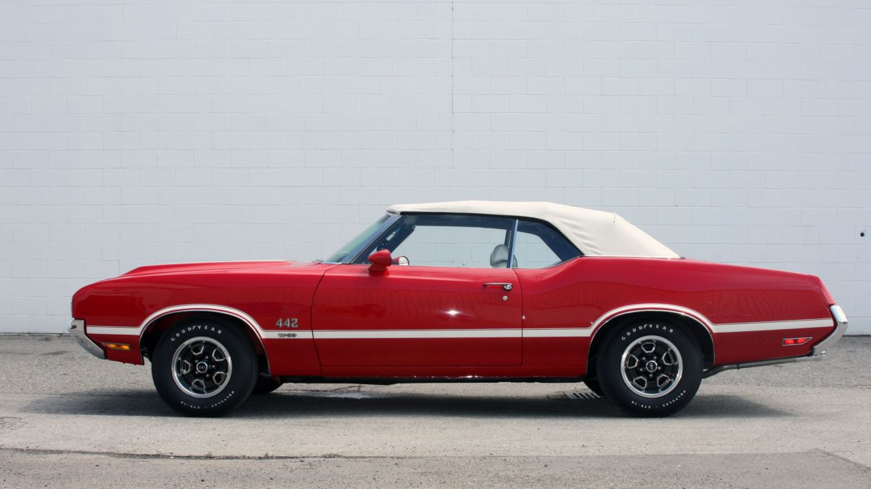 1970 Oldsmobile 442 W-30 Convertible Muscle Classic Old Original USA -02 wallpaper