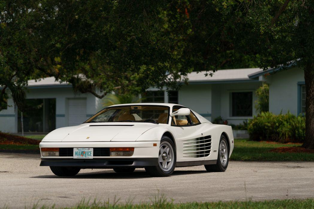 1986 Ferrari Testarossa Supercar Classic White Italy -04 wallpaper