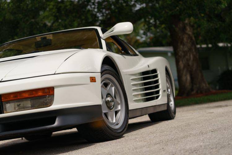 1986 Ferrari Testarossa Supercar Classic White Italy -10 wallpaper