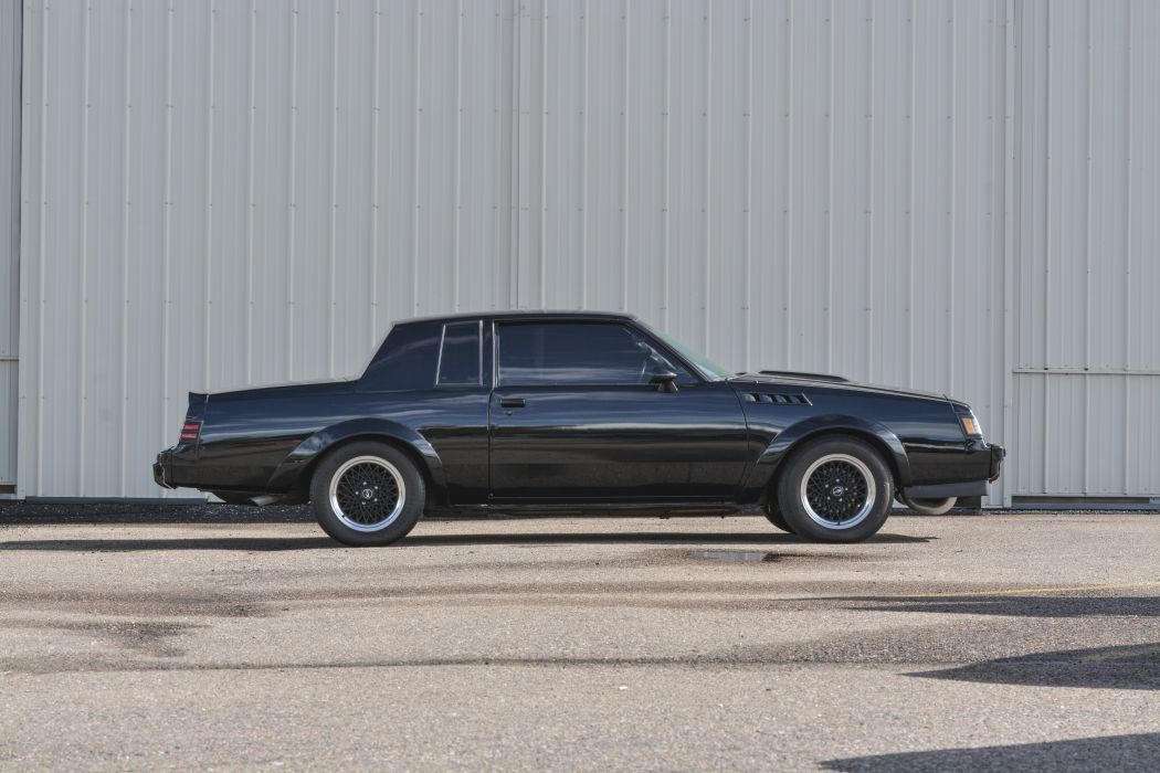 1987 Buick Grand National Muscle Classic Old Original Black USA -03 wallpaper