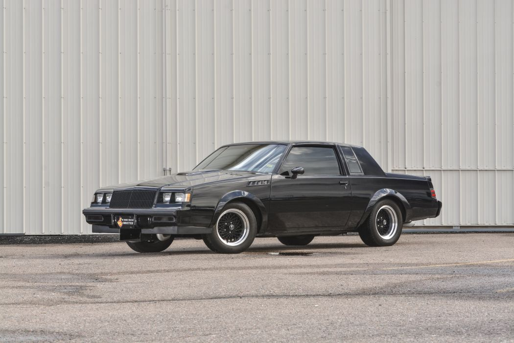 1987 Buick Grand National Muscle Classic Old Original Black USA -01 wallpaper