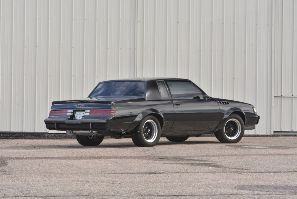 1987 Buick Grand National Muscle Classic Old Original Black USA -02 wallpaper