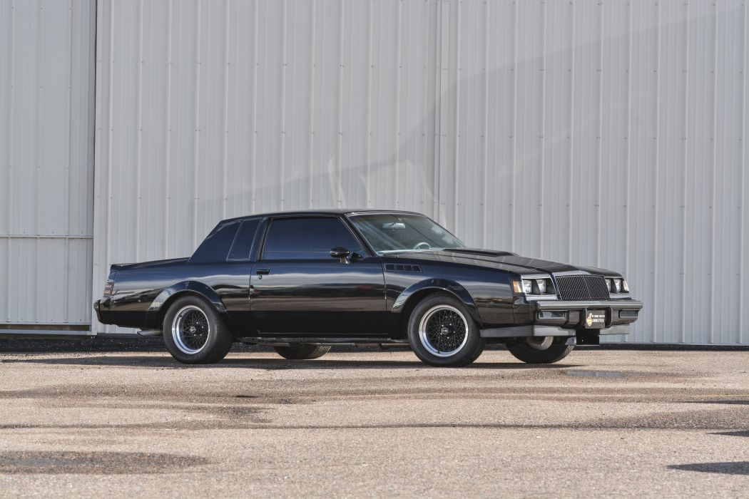 1987 Buick Grand National Muscle Classic Old Original Black USA -07 wallpaper