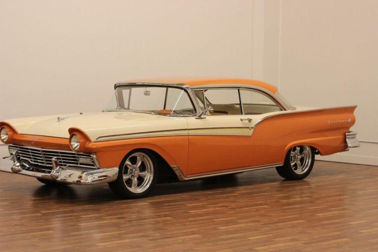 1957 Ford Fairlane 500 hot rod rods custom h wallpaper