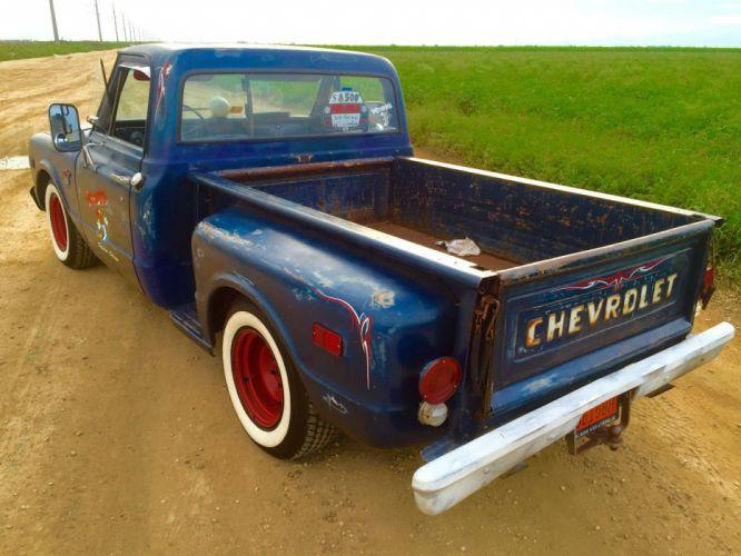 1968 Chevrolet C-10 pickup hot rod rods custom h wallpaper