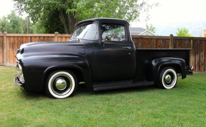 1956 Ford F-100 pickup hot rod rods custom h wallpaper