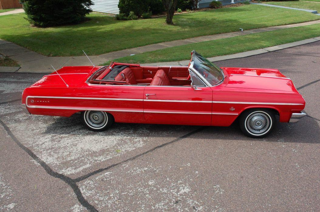 1964 Chevrolet Impala hot rod rods custom convertible h wallpaper