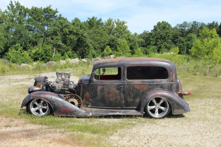 1934 Oldsmobile Rat Rod Coupe hot rod rods custom h wallpaper