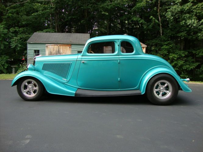 1934 Ford Coupe hot rod rods custom h wallpaper