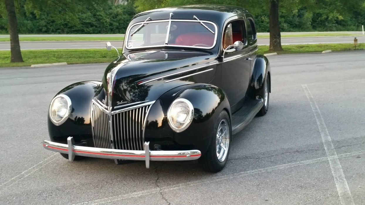 1939 Ford Deluxe hot rod rods custom h wallpaper