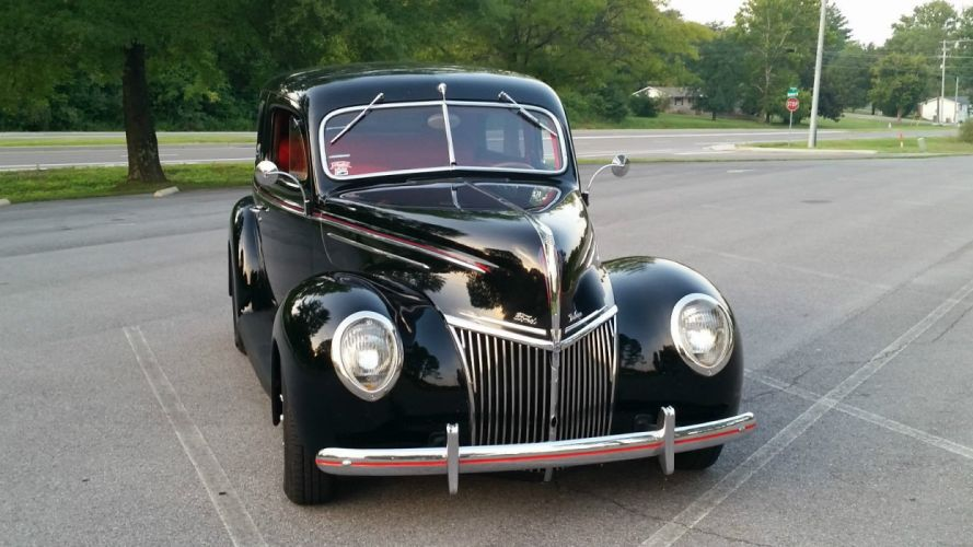 1939 Ford Deluxe hot rod rods custom h wallpaper