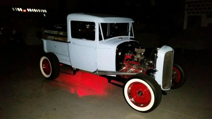 1930 Ford Model-A pickup rat hot rod rods custom h wallpaper
