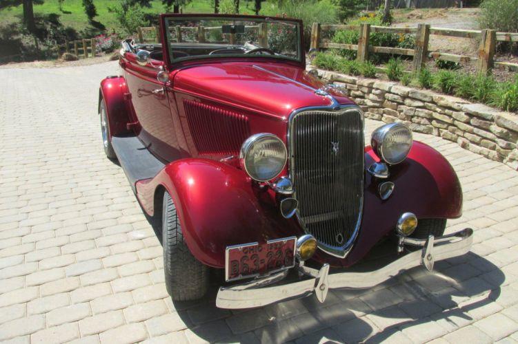 1933 Ford cabriolet hot rod rods custom h wallpaper